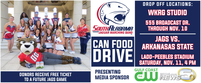 USA Jaguars Canned Food Drive this Saturday!