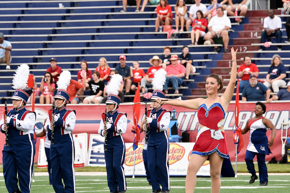 Feature Twirler of Jaguar Marching Band