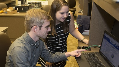 Joel Dawson, left, and Kassy Seale both spent their summer working for federal research laboratories.