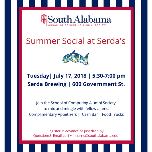 School of Computing Alumni Society Summer Social on July 17th