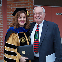 Dr. Debra Chapman and her dad