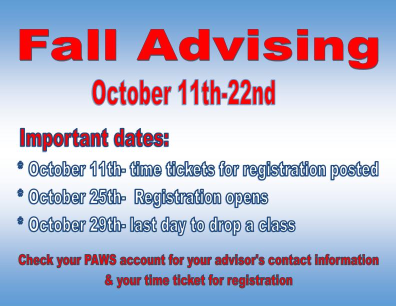 Fall Advising Flyer