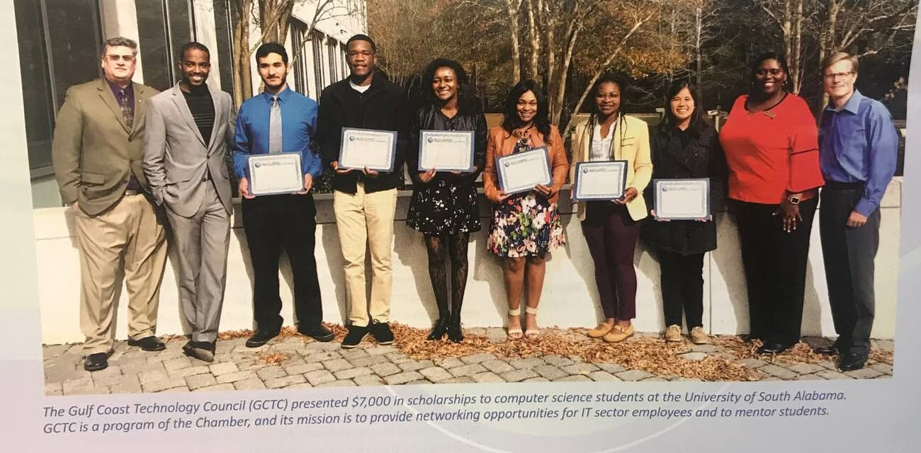 GCTC Scholarship Recipients from the University of South Alabama