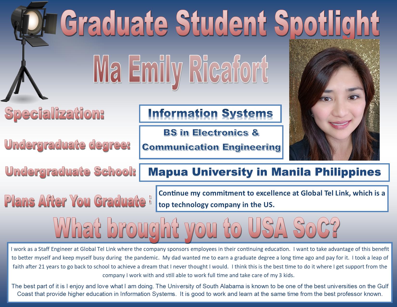 Graduate Student Spotlight - Emily Ricafort