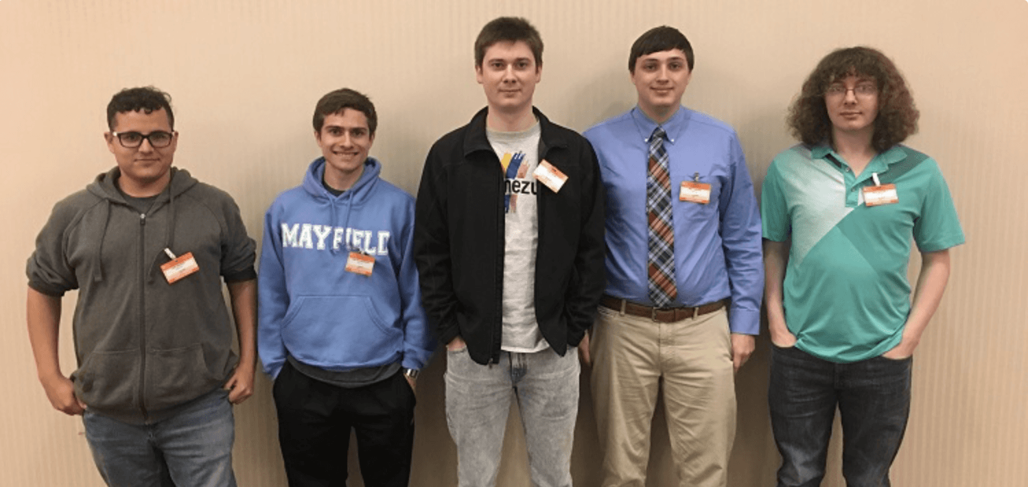 Five computing students from the University of South Alabama