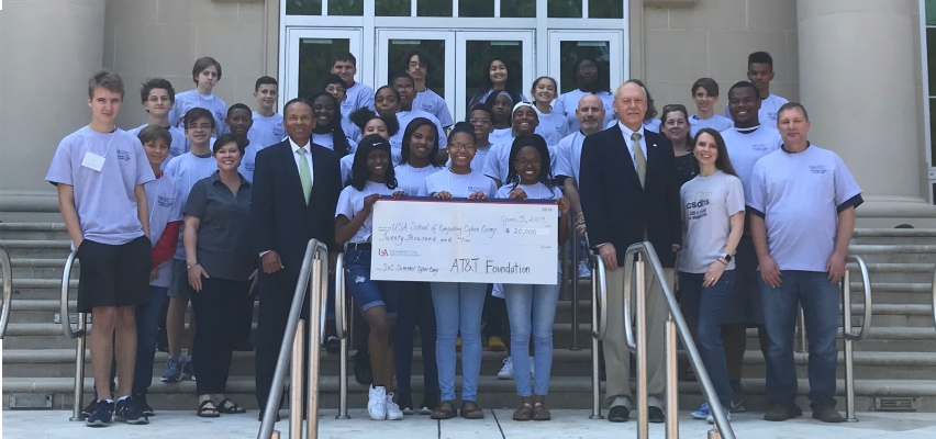 AT&T Foundation Contribution Benefits Summer Cyber Camp at USA SOC