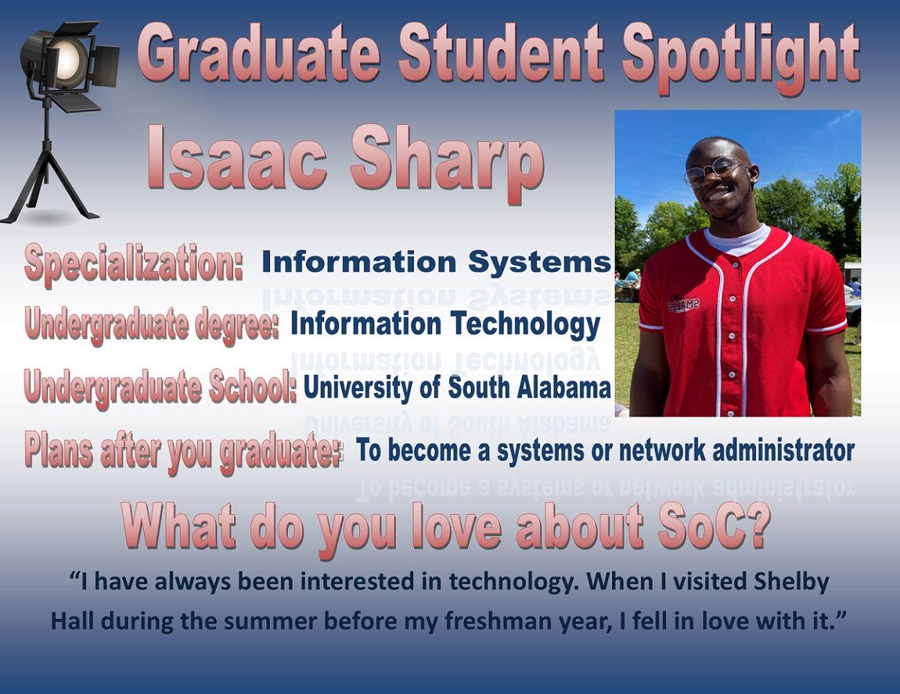 Graduate Student Spotlight - Issac Sharp