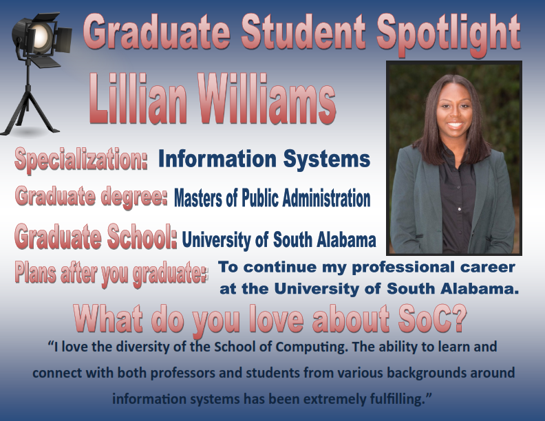 Graduate Student Spotlight  Lillian Williams