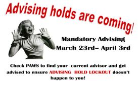Advising Holds