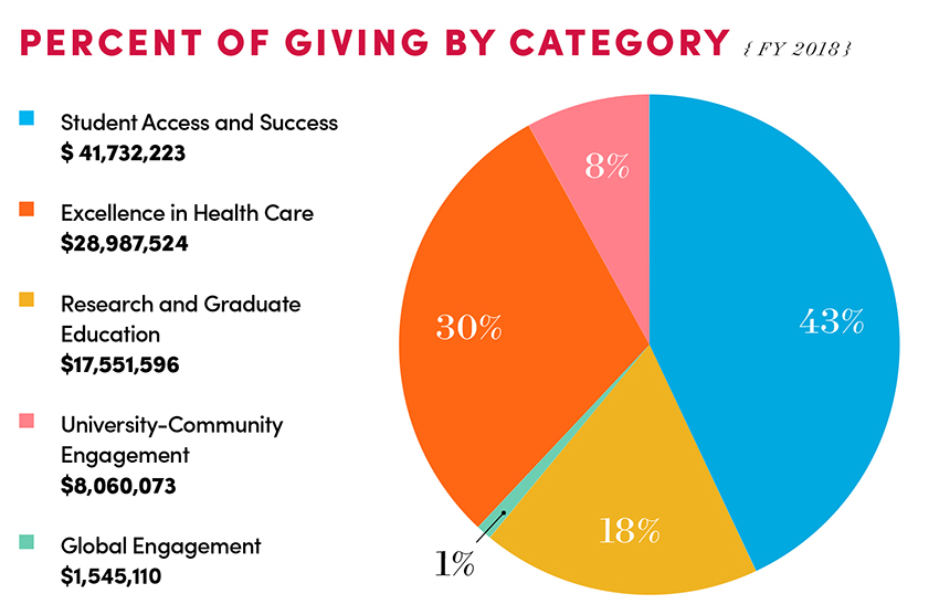 Percent of Giving by Category