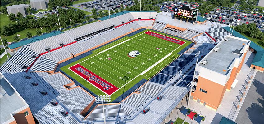 On-Campus Stadium Rendering