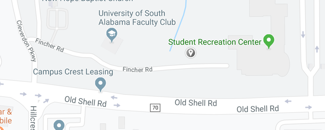 USA Map showing Student Rec Center