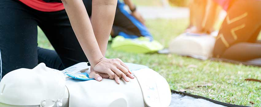 CPR Training outside.