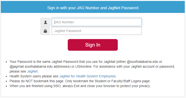 Sign in login screenshot