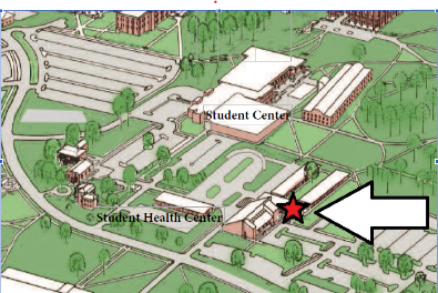 Map of location of Counseling and Testing