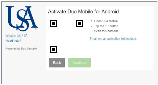 Screenshot of Activate the app on your device