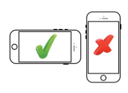 Graphic showing you to hold your phone horizontally