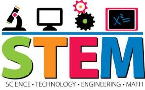 STEM  - Science, Technology, Engineering, and Math Logo
