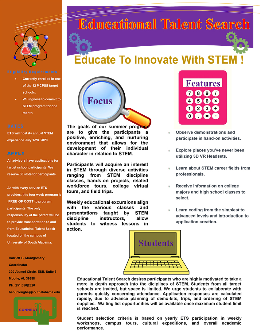 Summer Stem Flyer linked to PDF