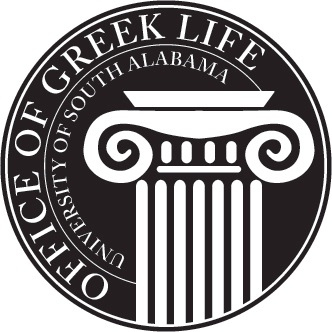 University of South Alabaama Office of Greek Life Logo