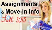 Fall 2015 Assignments and Move-In Info