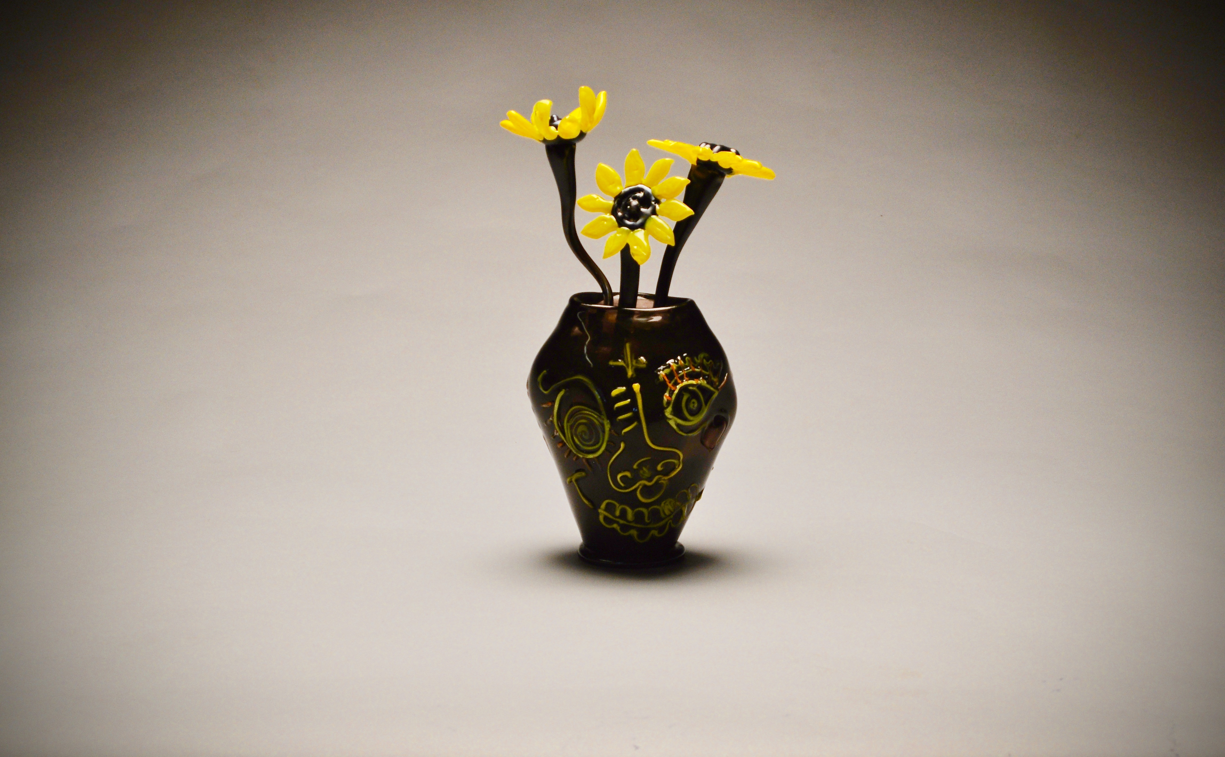 Art vase with flowers