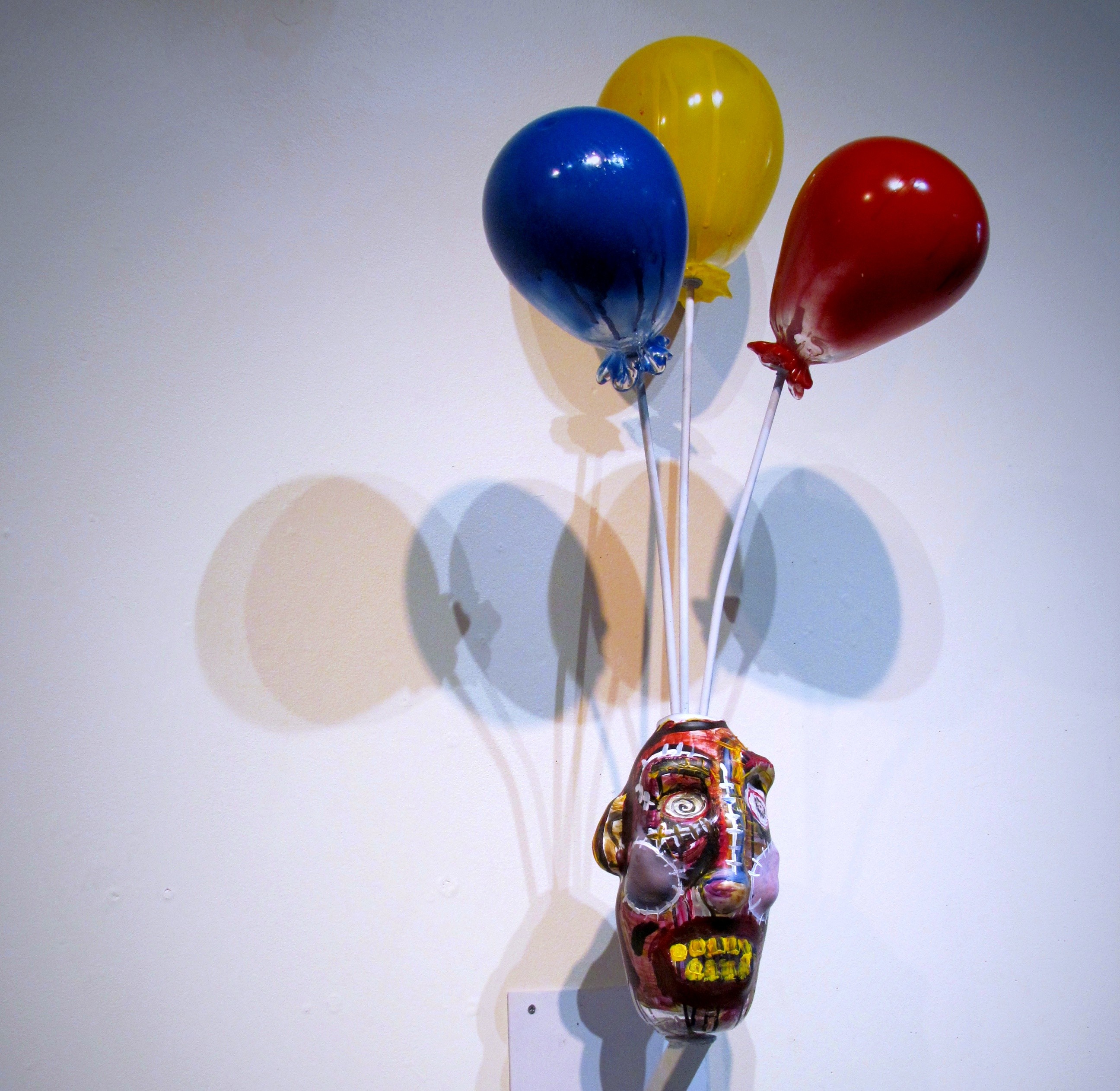 Mask with Balloons coming out of the top