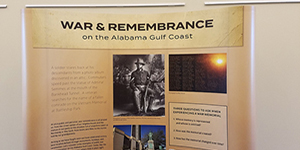 War and Remembrance display
