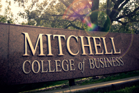 Mitchell College of Business Sign