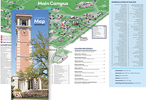 flyer for campus map