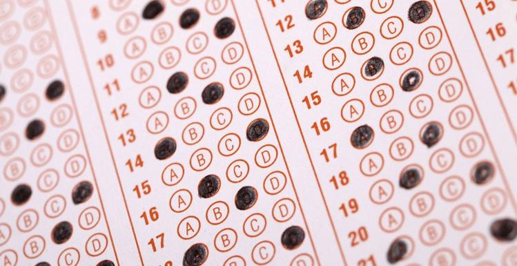 stock photo of exam sheet