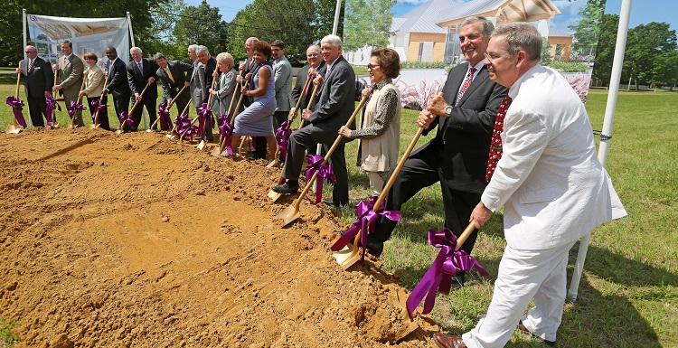 Ground is broken Tuesday on the Mitchell Cancer Institute's 11,000-square-foot Fairhope building, which will include exam rooms, cancer treatment areas and physicians' offices.  data-lightbox='featured'