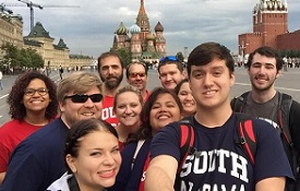 South students and faculty participate in the USA in Russia Study Abroad program in the summer of 2015.