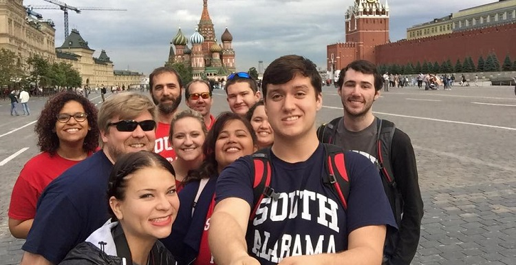 South students and faculty participate in the USA in Russia Study Abroad program in the summer of 2015. data-lightbox='featured'