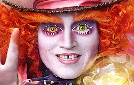 Johnny Depp plays the Mad Hatter in Hollywood's latest producation of the 'Alice in Wonderland' trilogy.
