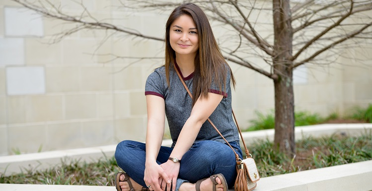 Maire Nakada, a nursing student and 2015 winner of the Distinguished Young Women competition, has made herself an abassador for her university, in addition to her representing the national scholarship program.