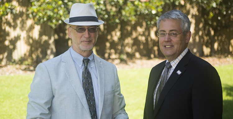 Mitchell College of Business Assistant Dean Dr. Alex Sharland, left, and Dean Dr. Bob Wood said uncertainty following the Brexit referendum is upsetting global economic markets.
