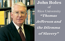 Stallworth Lecture to Focus on Thomas Jefferson and the Dilemma of Slavery