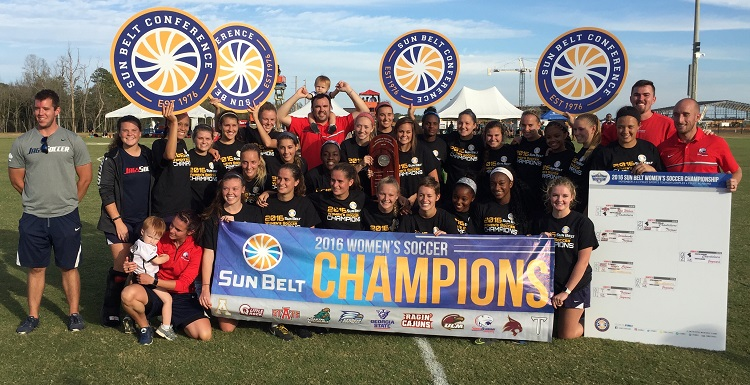 Following their Sun Belt title victory with two second half goals, the Jags will enter the NCAA Tournament with a 15-5-1 overall record.