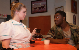 Seniors Sadie Bell Freeman and Tahj Vaughans star in Theatre USA's production of