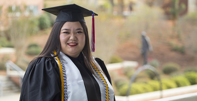 Robin Campbell, who after a little more than two years at South is set to receive her undergraduate degree, plans to pursue her master's degree in industrial organizational psychology.