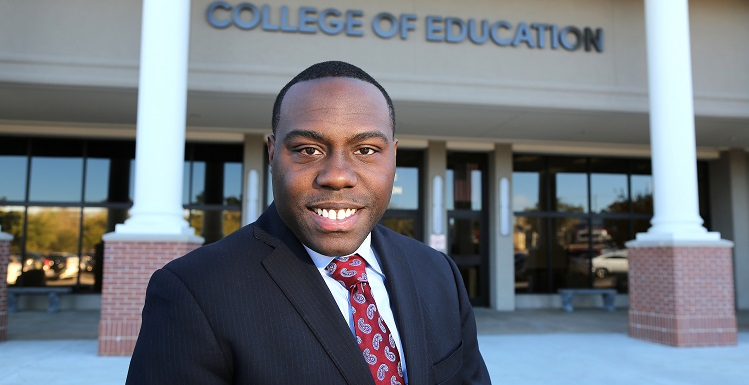 Dr. Jeremiah Newell is a 2008 graduate of the College of Education and the chief operating officer for the Mobile Area Education Foundation. data-lightbox='featured'