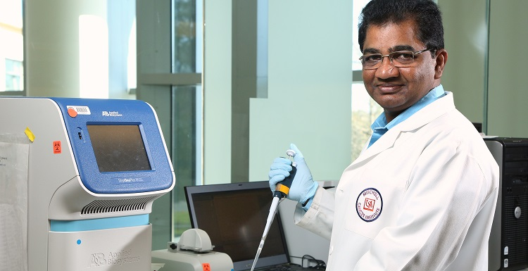 The Rev. Joji Reddy Lingaredd's research on plant extracts could lead to identifying herbal medicines as alternative cancer treatments. His research at MCI is designed to lay the groundwork for future collaboraiton.