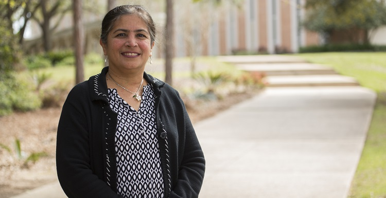 Dr. Madhuri Mulekar, professor and chair of mathematics and statistics, is the recipient of a nearly $7,000 Clare Boothe Luce Scholarship that will provide full tuition, accommodations, meals and travel for her to attend a two-week leadership institute.
