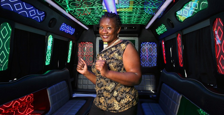 Mary Taylor spent a career in the military, in transportation and administration, before launching Elegant Knights Limo-Party Bus in Mobile.