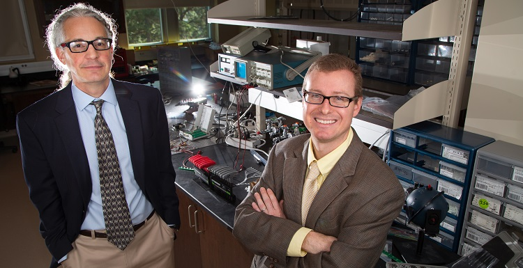 Dr. Thomas Rich, associate professor of pharmacology, left, and Dr. Silas Leavesley, associate professor of chemical and biomolecular engineering, are co-founders of SpectraCyte, a previous Alabama Launchpad award winner.