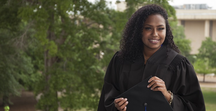 Winifred George, who will earn her bachelor's in nursing, wants to work in labor and delivery, and, in the near future, return to school for her graduate degree.