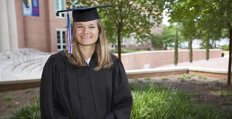 "Mikayla Walters will return to South to earn a master's degree in chemical engineering: ""I love learning and I am eager to learn all I can in my field."""