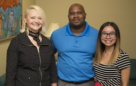 Attending the two-week summer Research Opportunities for Noyce Alumni professional development training are Dr. Susan Martin, associate professor of Leadership and teacher education, and program coordinator at the University of South Alabama; Ramsey Willis, a math teacher at Davidson High School; and Cathey Ho, a science teacher at Semmes Middle School.