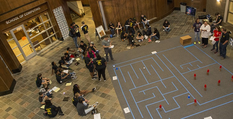 overhead photo of cyber camp
